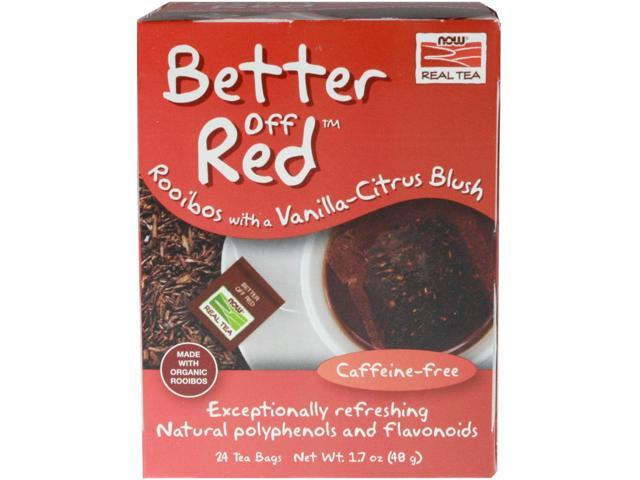 NOW? Real Tea - Better Off Red Tea Bags - Box of 24 Packets by NOW
