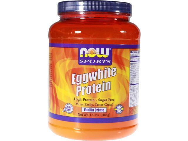 NOW? Sports - Eggwhite Protein Vanilla Creme - 1.5 lbs (680 Grams) by NOW