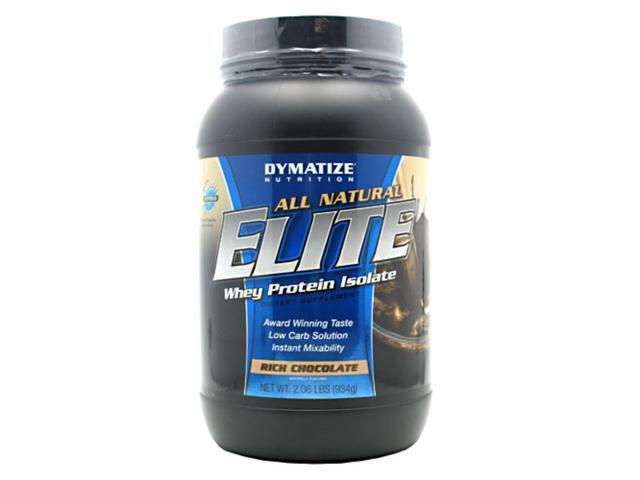 All Natural Elite Whey Protein Rich Chocolate 2.06lb (934g)
