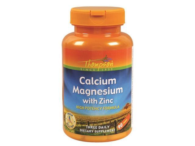 Calcium Magnesium with Zinc - Thompson - 90 - Tablet