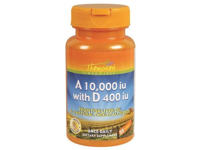 A & D Fish Liver Oil (10,000/400 IU ) - Thompson - 30 - Softgel