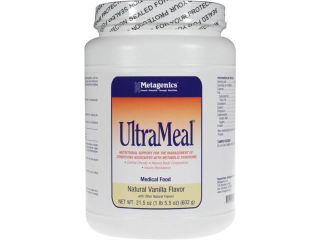 Metagenics UltraMeal Medical Food Natural Vanilla 21.5 oz.