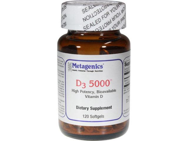 Metagenics D3 5000 120 Softgels