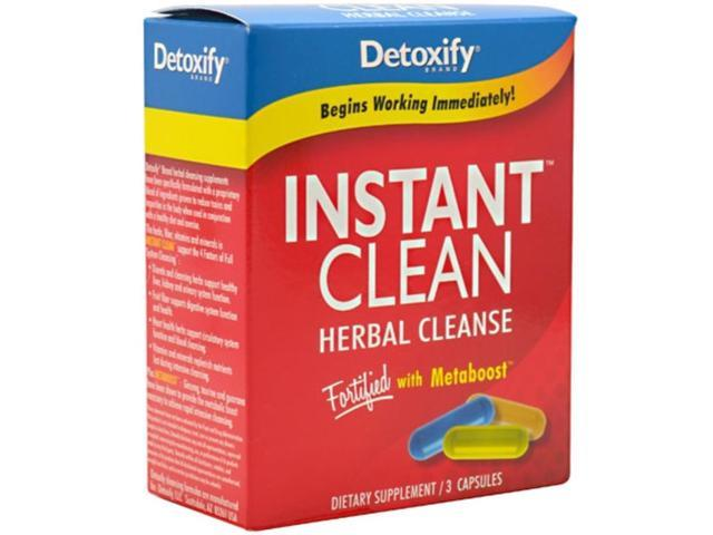 Detoxify               Instant Clean Herbal Cleanse 3 Capsules