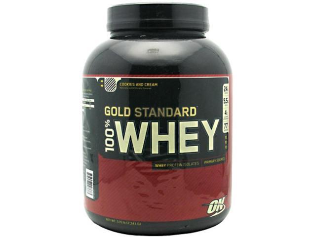 Optimum Nutrition Gold Standard 100% Whey Protein Cookies N' Cream 5 lbs.