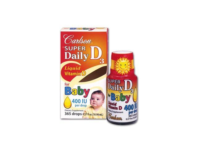 Carlson Labs Super Daily D3 for Baby 400 IU 365 drops