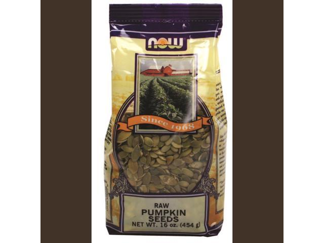 NOW? Real Food - Raw Pumpkin Seeds, Unsalted - 16 oz (454 Grams) by NOW