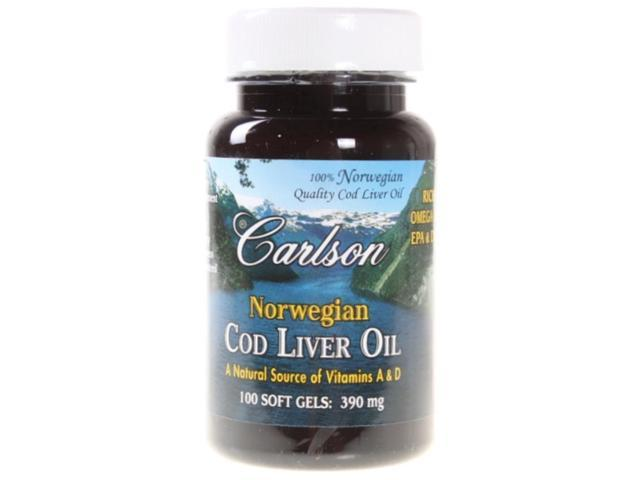 Norwegian Cod Liver Oil 370mg - Carlson Laboratories - 100 - Softgel