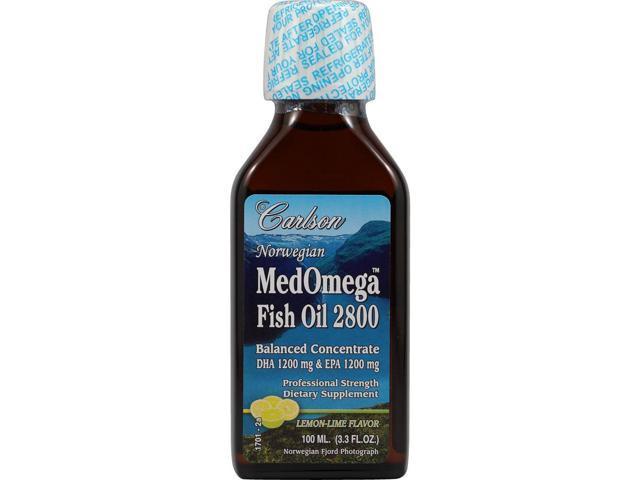 Medomega fish oil 2800 lemon lime carlson laboratories for Carlson s fish oil lemon