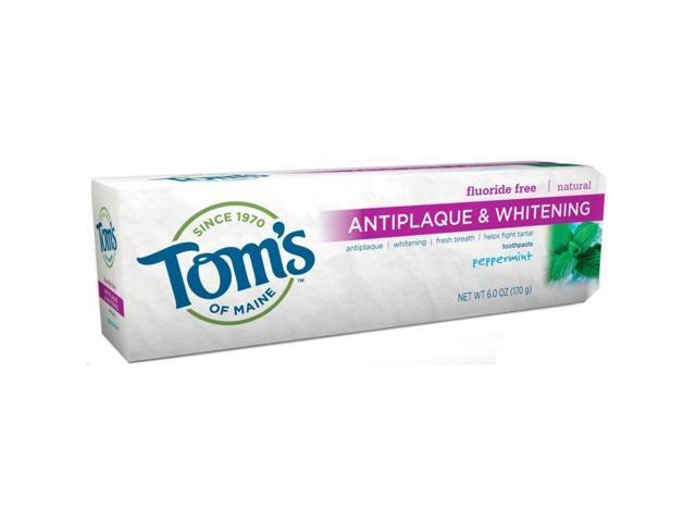Antiplaque & Whitening Fluoride-Free Toothpaste Peppermint 5.5 oz