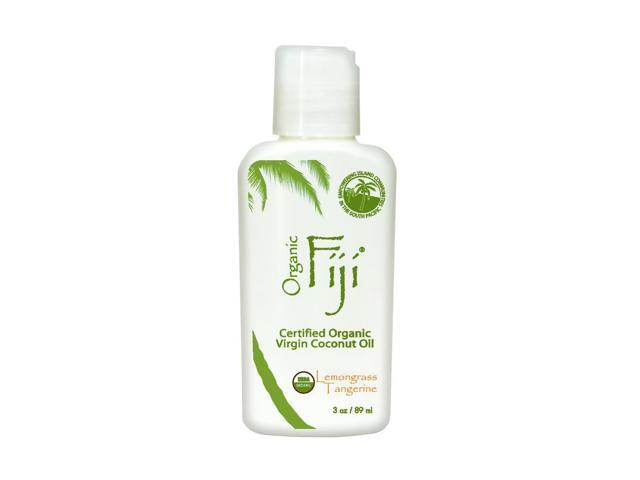Organic Fiji, Certified Organic Virgin Coconut Oil Lemongrass Tangerine 3 fl oz