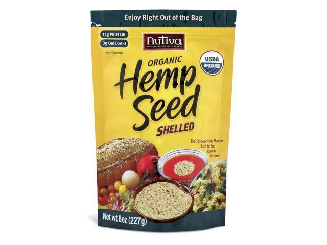 Organic Shelled Hempseed - 8 oz (227 Grams) by Nutiva