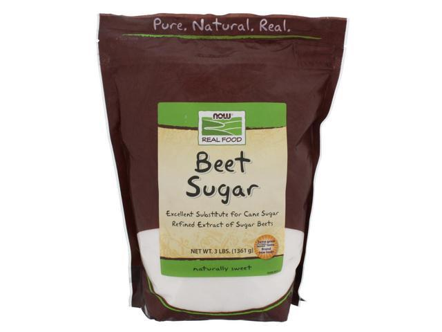 NOW? Real Food - Beet Sugar - 3 lbs (1361 Grams) by NOW