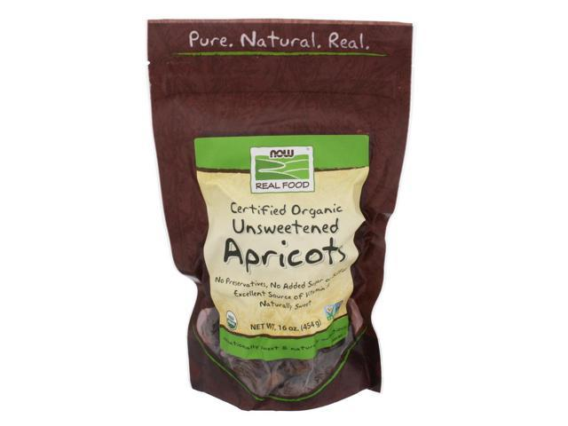 NOW? Real Food - Apricots (Certified Organic Unsweetened) - 16 oz (454 Grams) by