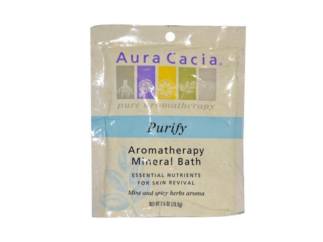 Aura Cacia Aromatherapy Mineral Bath Balancing Sage 2.5 oz, (Pack of 6)