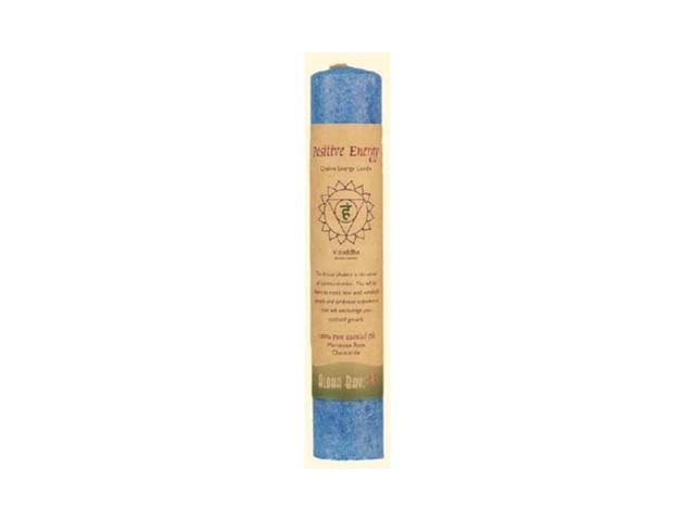 Aloha Bay Chakra Pillar Candle Positive Energy Blue 1 Candle