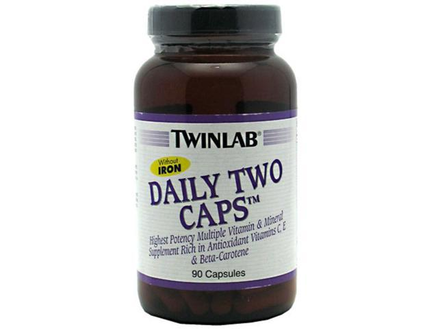 Twinlab Daily Two Caps Without Iron  90 capsules