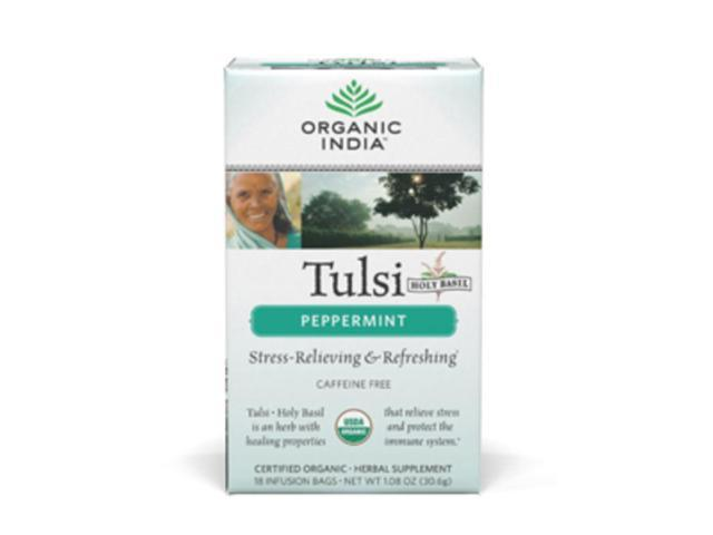 Organic India  Tulsi Tea Peppermint 18 bags, (Pack of 6)