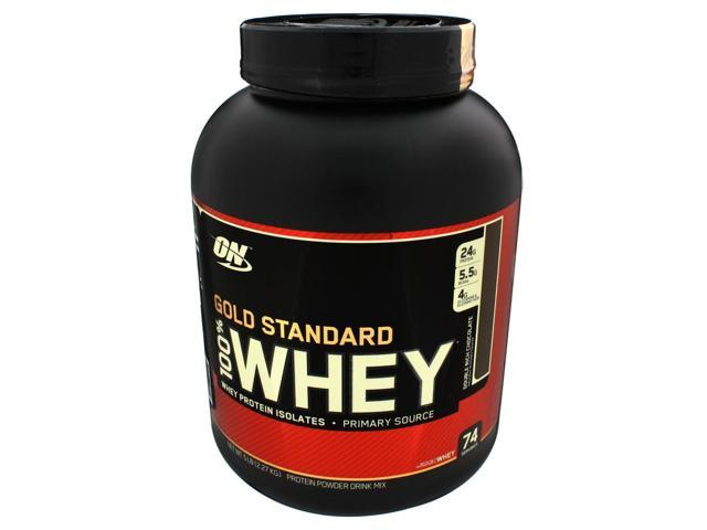 100% Whey Protein  Gold Standard- Chocolate - Optimum Nutrition - 5 lbs - Powder