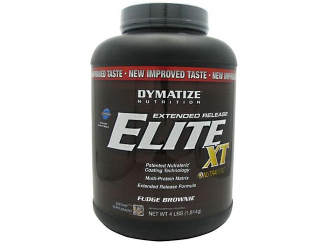 Dymatize Nutrition Elite Extended Release XT Fudge Brownie 4 lbs.