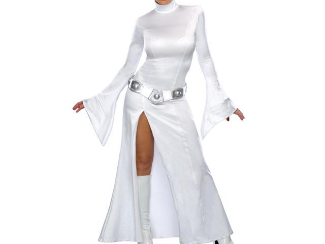Star Wars Princess Leia White Dress Adult Costume Small