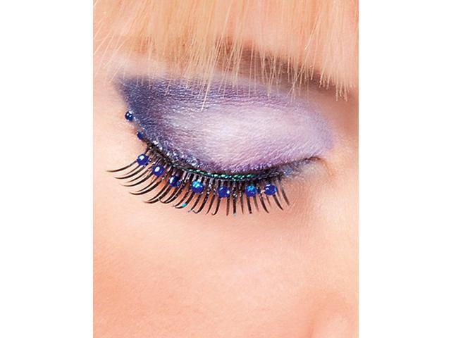 Black Blue Rhinestone Eyelashes Baci Glamour