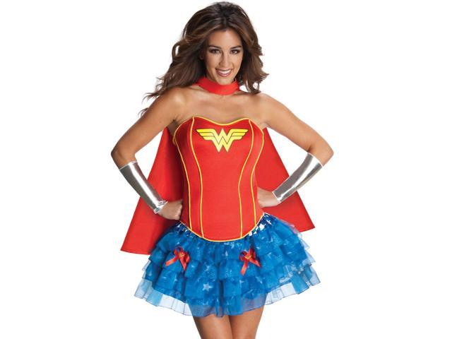 Sexy Wonder Woman Corset Costume - Extra Small