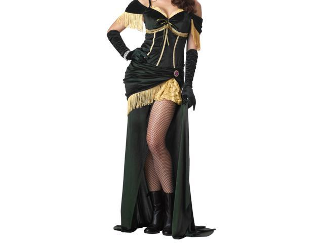 Sexy Saloon Madame Dress Costume Adult Large 10-12