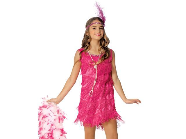 Hot Pink Flapper Girl's Costume