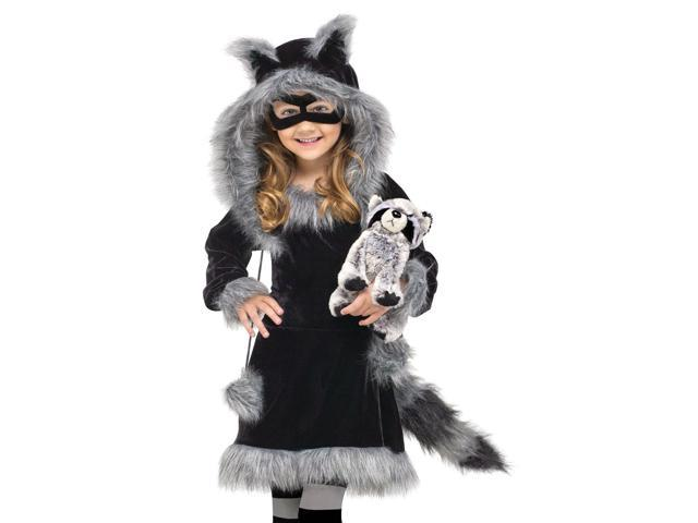 Kids Toddler Girls Raccoon Halloween Costume