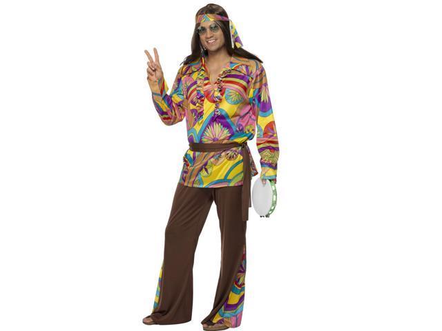 Mens Hippie Retro 60s 70s Adult Halloween Costume  Newegg.com