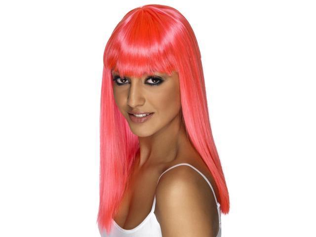 Hot Pink Rave Wig