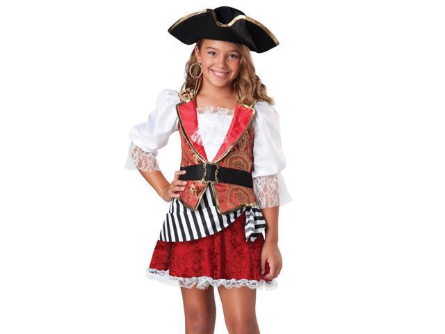 Pretty Pirate Girl's Buccaneer Halloween Costume S