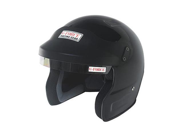 G-FORCE 3021LRGBK Pro Phenom Open Face Helmet Large Black