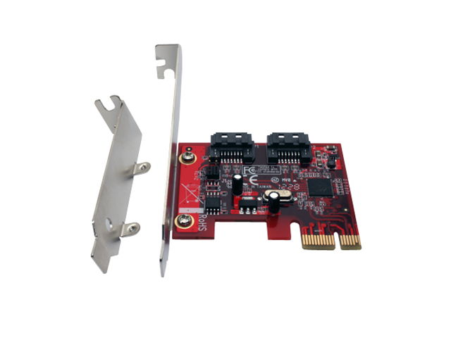 Aleratec 2 Port PCI Express PCIe SATA 3 6.0 Gbps Host Adapter 2 Int SATA Ports