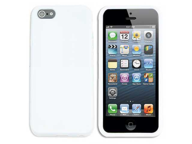 Premium Flexible TPU Soft Skin Case Cover for The New Apple® iPhone® 5S / 5 (White)