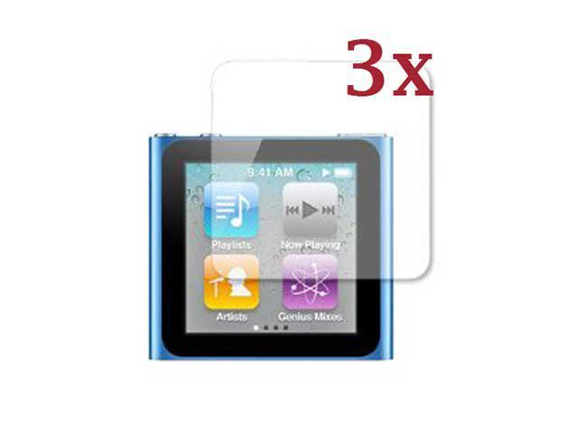 Pack Of 3 Clear Screen Protector Made for iPod Nano 6 6th Generation