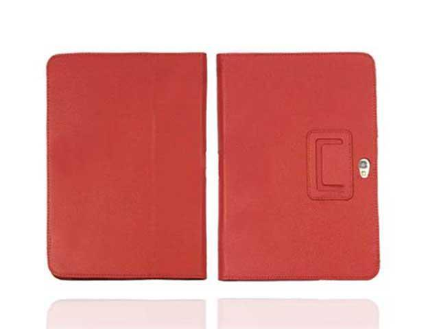 Premium Galaxy Tab Leather Flip Stand Hard Folio Case Cover for Samsung Galaxy Note 10.1 (RED)