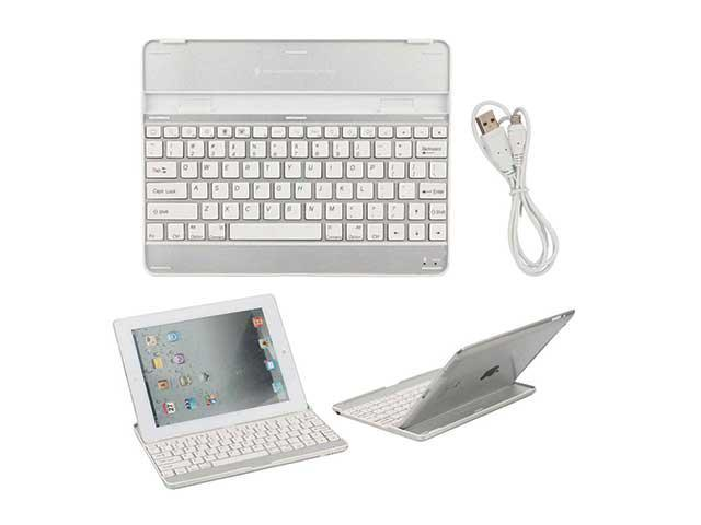 Ultrathin Bluetooth Wireless Keyboard Mobile Dock for New iPad 4th 3 2 Gen - White