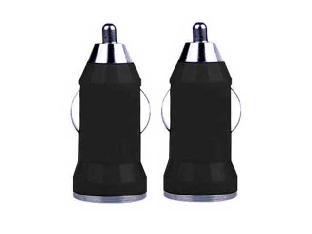 2X USB Phone Car Charger for All Smartphones/ Tablets/ Phablets/ PDAs - BLACK