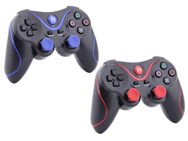 For Sony PS3 Wireless Doubleshock Game Pad Bluetooth Controller 2 Pcs Pack New!!