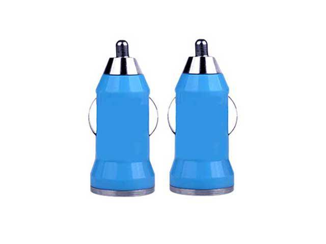 Pack of 2 - New Mini Car Charger USB Power Adapter for iPhone 4 5 / iPad 2 3 4 / iPod/ Samsung Smart Phones
