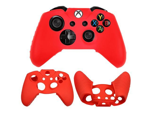 Silicone Skin Cap Protector Rubber Grip Case Cover for Microsoft Xbox One Gaming Game Controller - Red Color