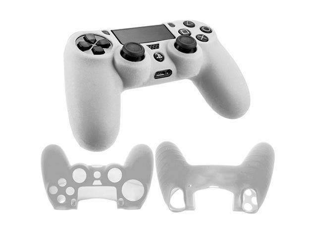 Silicone Rubber Soft Case Gel Skin Cover For Sony PlayStation 4 PS4 Controller - White