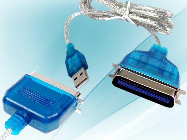 Premium USB 2.0 to Parallel IEEE 1284 Printer Adapter Cable PC (36 Pin)