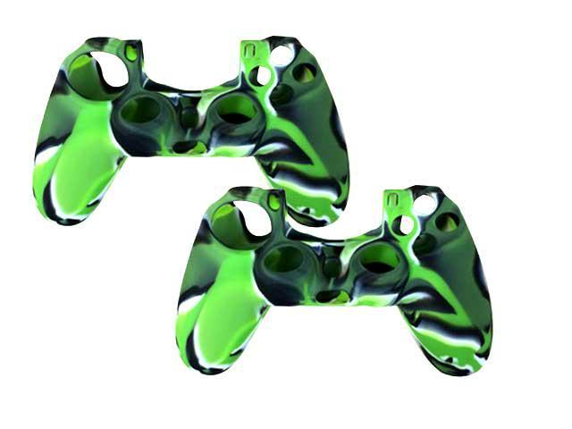 2 X Silicone Protector Skin Case Cover For PS4 Sony Playstation 4 Game Controller – Green