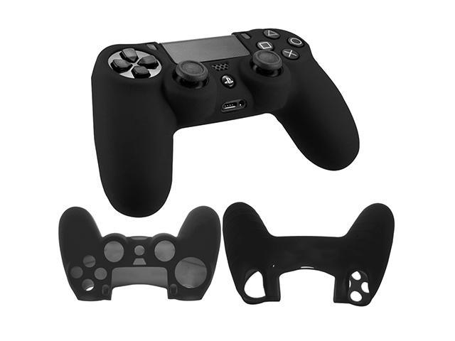 Silicone Rubber Soft Case Gel Skin Cover For Sony PlayStation 4 PS4 Controller - Black
