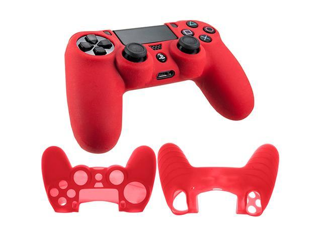 Silicone Rubber Soft Case Gel Skin Cover For Sony PlayStation 4 PS4 Controller - Red