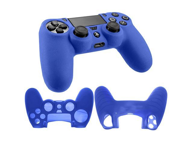 Silicone Rubber Soft Case Gel Skin Cover For Sony PlayStation 4 PS4 Controller - Blue