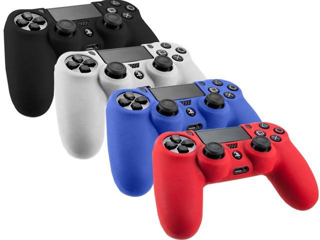 4Pcs Premium Silicone Rubber Soft Case Skin Cover For Sony Playstation 4 PS4 Controller
